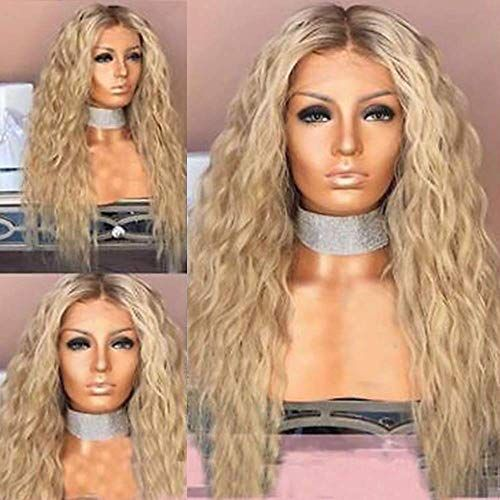 Enjoy Exclusive For Qd Tizer Ash Blonde Hair Loose Curly Synthetic