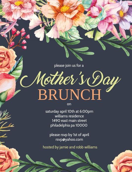 Mother S Day Brunch Invitation Design Inspiration Mothers Day Poster Mothers Day Event