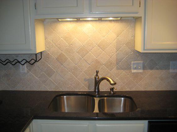 white cabinet color brushed nickel faucet tumbled marble backsplash