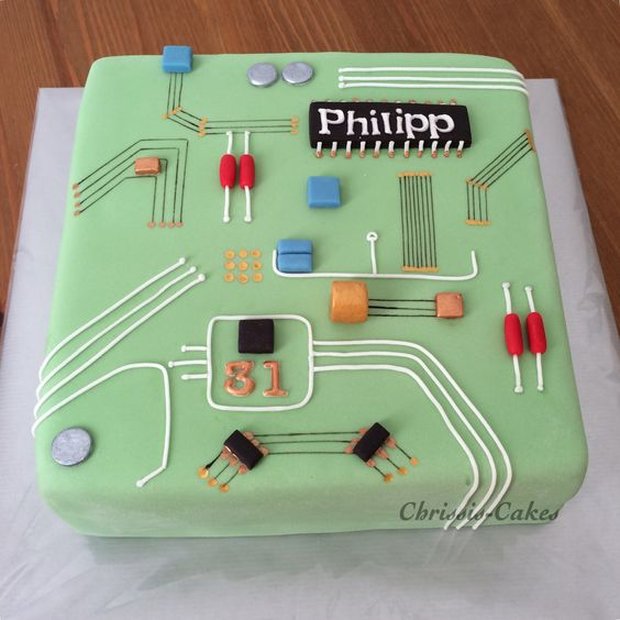 25 Best Ideas About Computer Cake On Pinterest: Motherboard Computer Cake