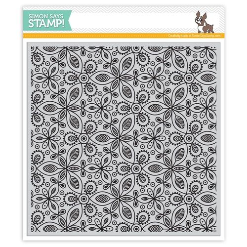 Simon Says Cling Rubber Stamp KALEIDOSCOPE LEAVES BACKGROUND SSS101762 STAMPtember