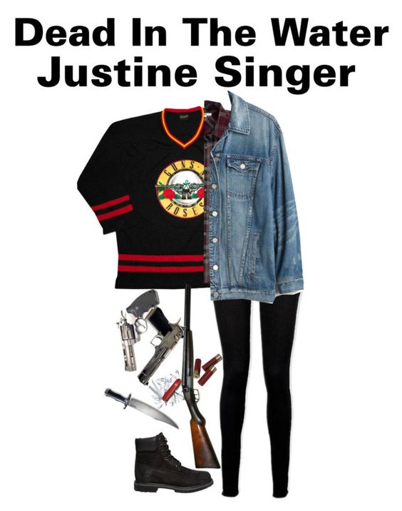 """""""S1.E3 """"Dead in the water"""" -Justine Singer (Supernatural)"""" by j-j-fandoms ❤ liked on Polyvore featuring NIC+ZOE, Paige Denim, Timberland, Vans, Madewell and Victorinox Swiss Army"""