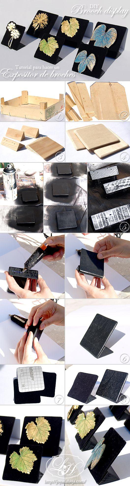 diy brooch display_tutorial / Expositor de broches_tutorial