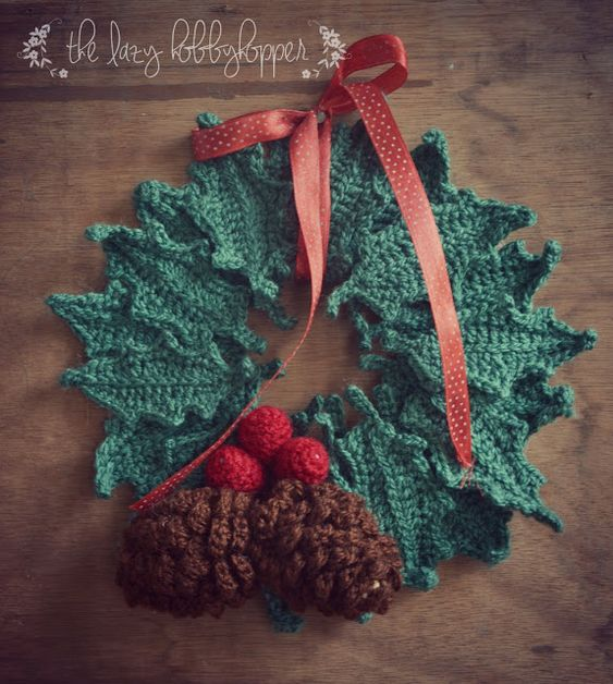 Crochet Christmas Wreath Free Pattern Step By Step Christmas