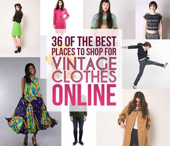 vintage clothing online shops