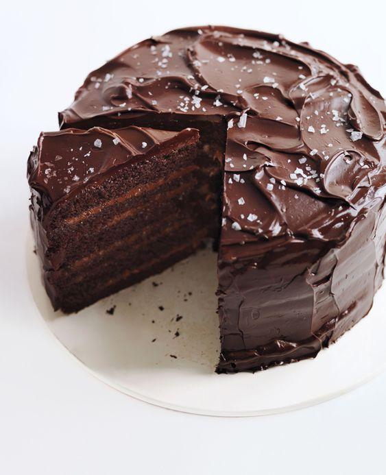 Salted-Caramel Six-Layer Chocolate Cake | Recipe | Salted ...