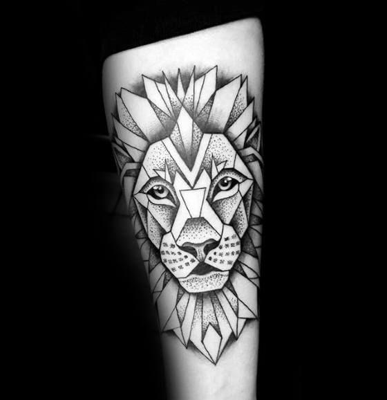 Top 57 Geometric Lion Tattoo Ideas 2020 Inspiration Guide Geometric Lion Tattoo Tattoo Designs Men Tattoos For Guys