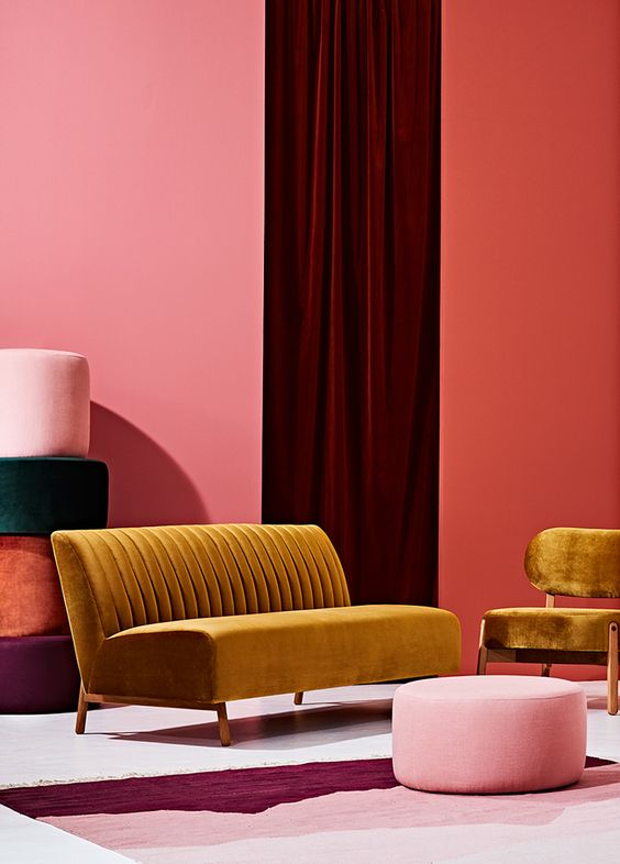 Mustard, pink, terracotta, blush... love! #richardstewartpainting #losangeles #paintingcontractor