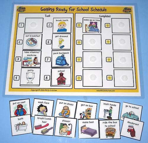 School schedule, Aba and Autism on Pinterest