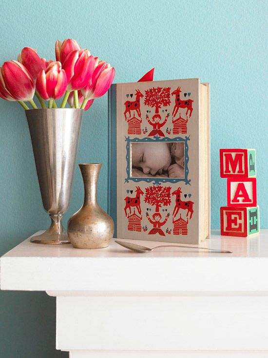 Frame Up - repurpose a book with a beautiful cover