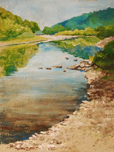 """""""From The River Road Landing""""                       watercolor painting by Jennifer Fais of West End                       Gallery - Corning, NY. See more paintings by                       Jennifer Faishere:http://www.westendgallery.net/photo-gallery/artist-gallery-jennifer-fais"""