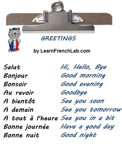 Learn French Greetings with Audio in 3 easy steps + Greetings ...