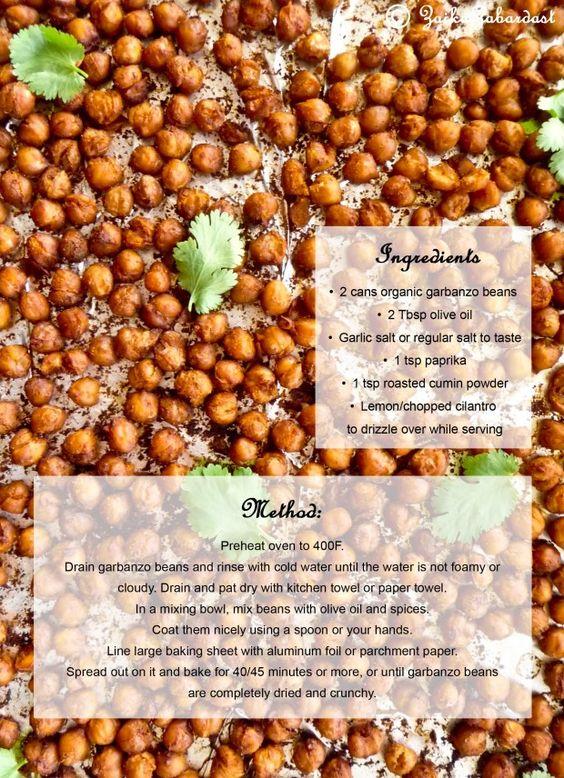 Roasting garbanzo beans