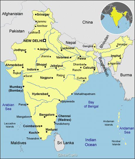 India Map Calcutta