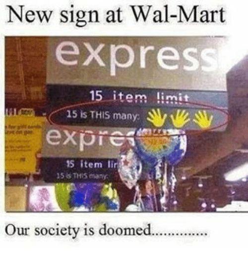 Afbeeldingsresultaat voor new sign at walmart: