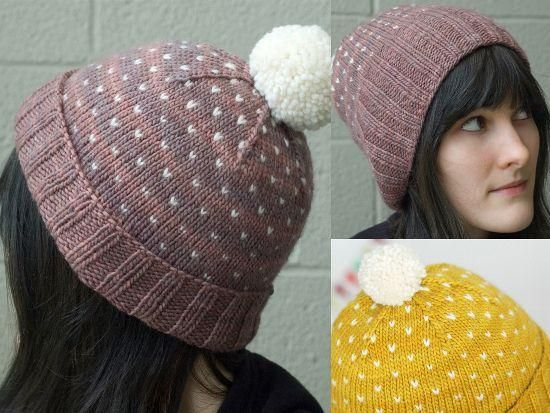 Knitting: A Most Bespeckled Hat  I don't knit but i love this!
