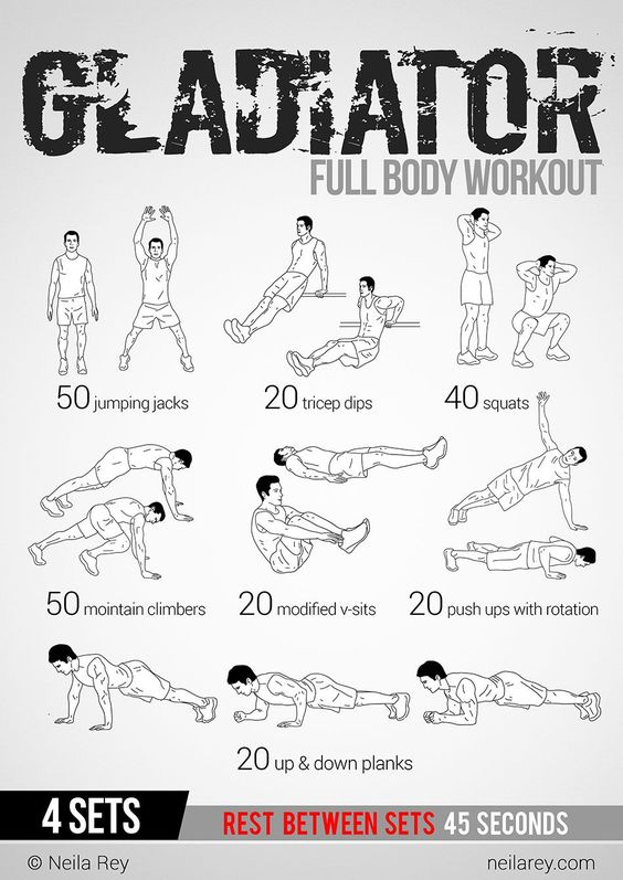 Gladiator Workout: This site has 100 amazing no equipment workouts. Free phone and tablet download, also a paperback copy you can purchase from Amazon for $10 Make sure to check out our fitness tips, nutrition info and more at www.getyourfittog... #exercise #fitness #workout