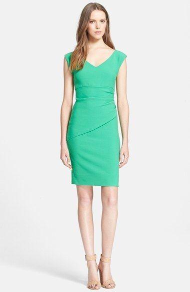 $348, Green Sheath Dress: Diane von Furstenberg Bevin Sheath Dress. Sold by Nordstrom.