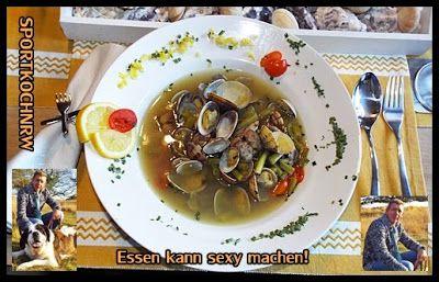 """""""Liebe geht durch den Magen"""" oder wenn das Essen sexy macht!:  Venusmuschelsuppe mitfrischen Stangenbohnen Venus..."""