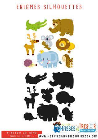Enigme silhouettes d 39 animaux pour enfants chasses au - Idee d enigme pour chasse au tresor ...
