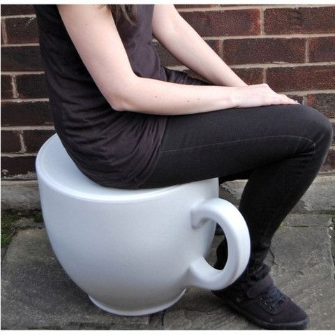 Coffee cup stool various colours uk online made in the united