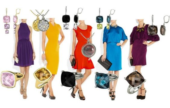 Jewel tones clothing and how going for jewel palette - Jewel tones color wheel ...