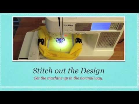 Brother SE400 Machine Embroidery tutorial