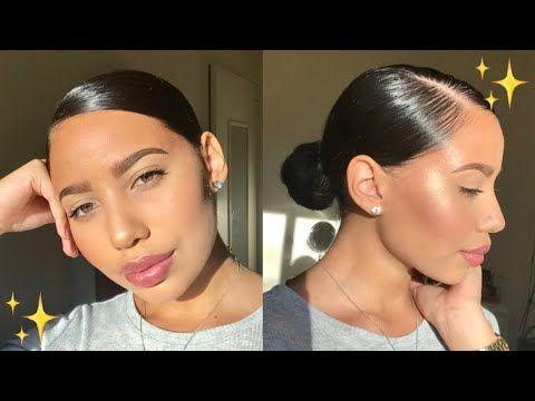 11++ Low bun with edges trends
