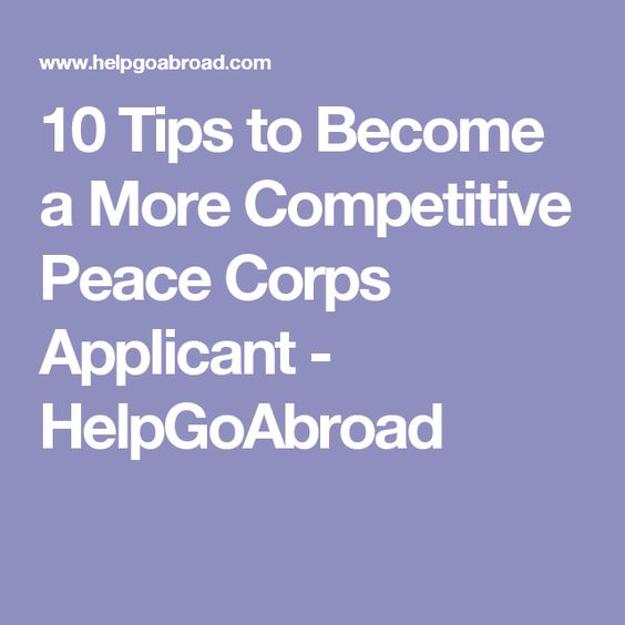 10 Things I Wish I Knew Before Joining the Peace Corps Peace - peace corps resume