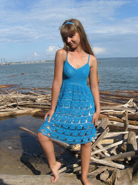 Cute crochet summer dress
