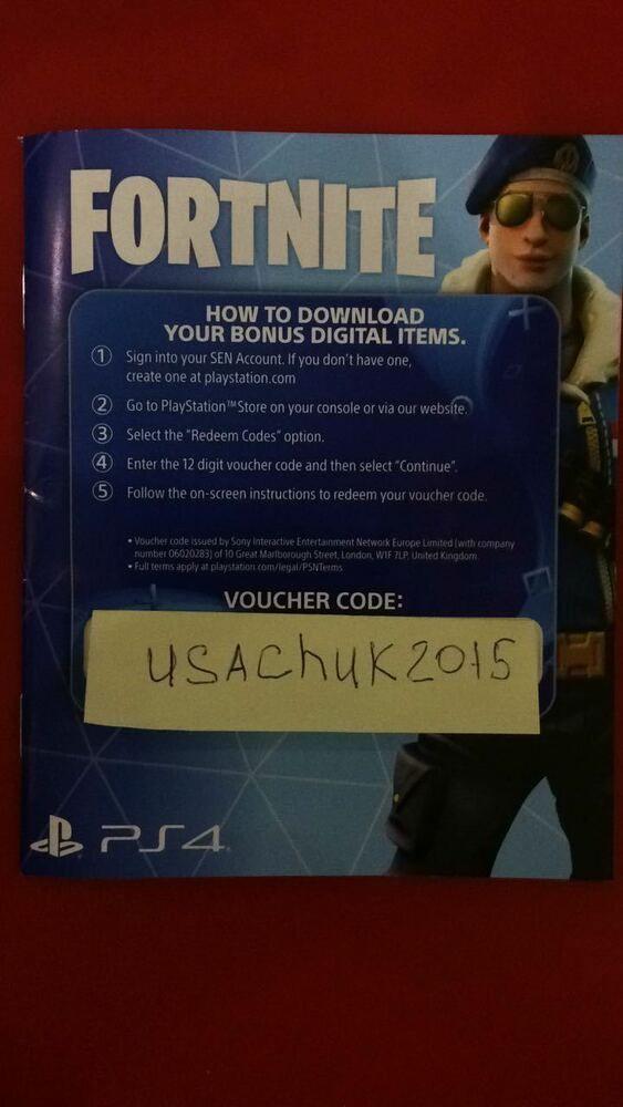 PS4 Fortnite skin Royale Bomber Code + 500 V-Bucks #fortnite