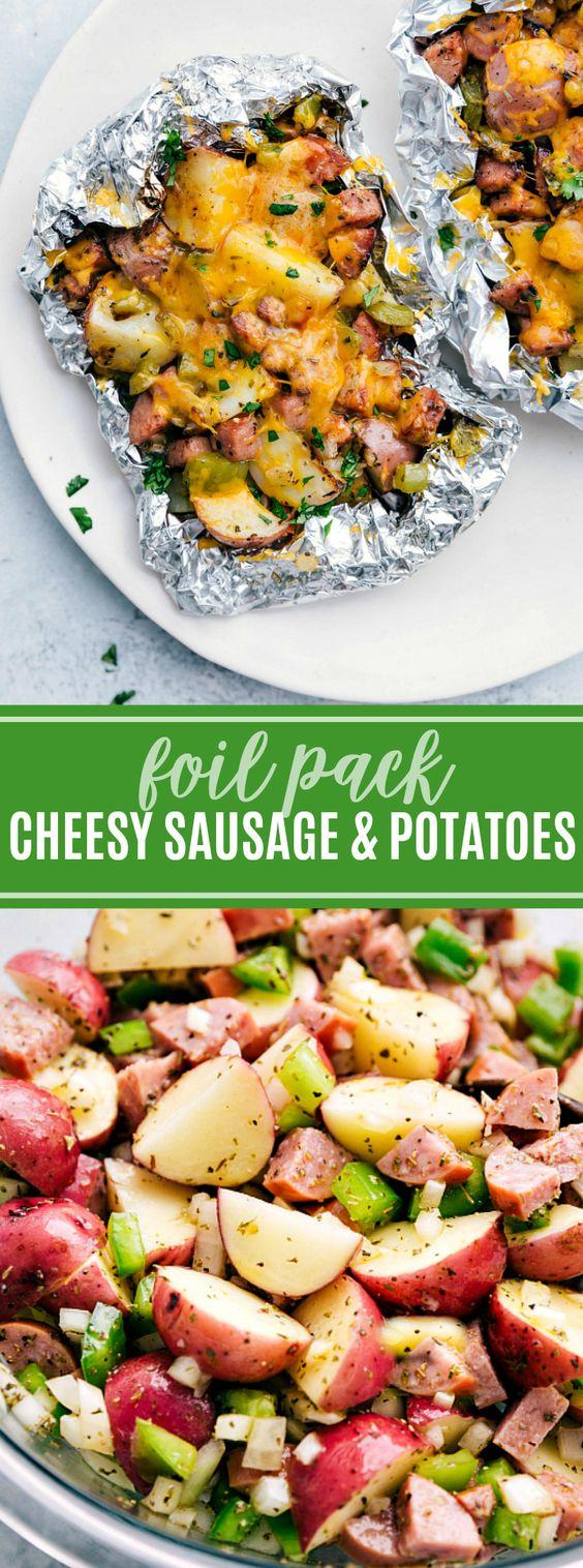 Cheesy Sausage & Potato Foil Pack