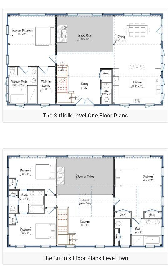 30 Barndominium Floor Plans for Different Purpose Planos de