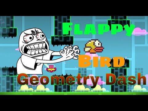 Flappy Bird!! Versión Geometry Dash - YouTube #Flappy