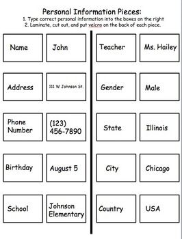 All About Me 2: Interactive Worksheets to Work on Personal ...