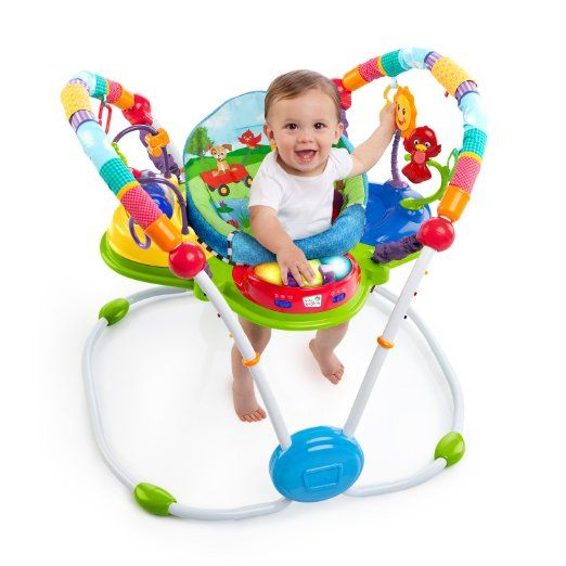 Exercise machines serve a dual purpose -give the baby some exercise in a stationary location and give the parents some respite from constant monitoring.