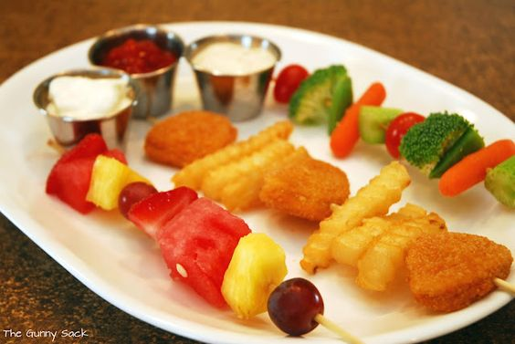 Dipping Dinner! Great way for little ones to get variety & try new foods