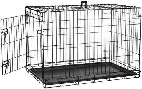 Dgs Amazonbasics Single Door Folding Metal Dog Crate 36 Inches Dogcrates Dogcratecoffeetable Dog Crate Extra Large Dog Crate Large Dog Crate