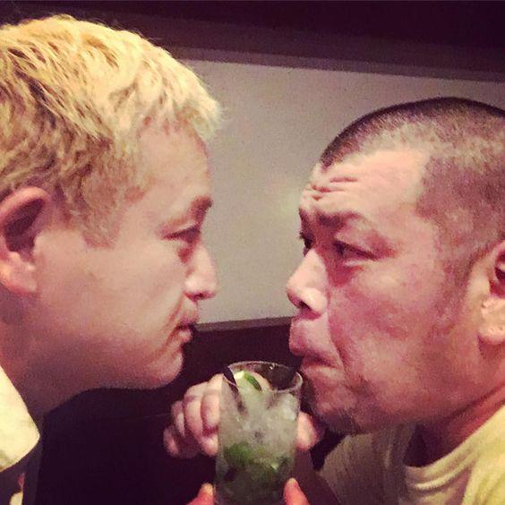 福島さんと飲みっこするくっきー