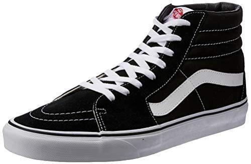 Vans Sk8-Hi Unisex Casual High-Top Skate Shoes - 5 / Sk8-hi Black ...
