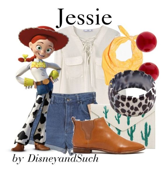 Jessie by disneyandsuch on Polyvore featuring polyvore fashion style MANGO Madewell Miriam Haskell Wrangler clothing disney toystory WhereIsMySuperSuit