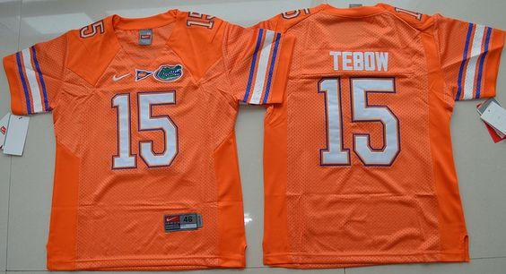 Gators #15 Tim Tebow Orange College Football Youth NCAA Jersey