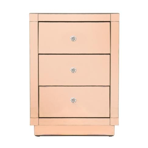 Antique Pedestal Copper Mirror, Rose Gold Mirrored Furniture