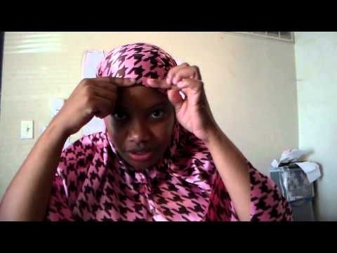 ▶ Muslimah sewing: How to make a tie back Khamir Part 3 - YouTube