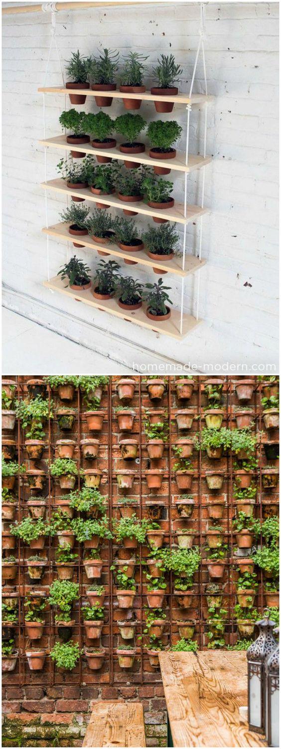 Ideas para crear un jard n vertical en casa visto en www for Ideas para hacer un jardin en casa