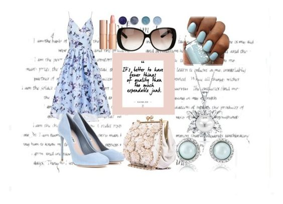 """""""Untitled #17"""" by roza2001 ❤ liked on Polyvore featuring Chi Chi, Miu Miu, Bling Jewelry, Charlotte Tilbury, Terre Mère and Gucci"""