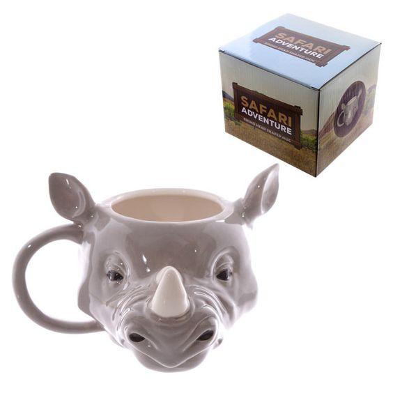 Nashorn-Kopf-förmige Keramik Tasse