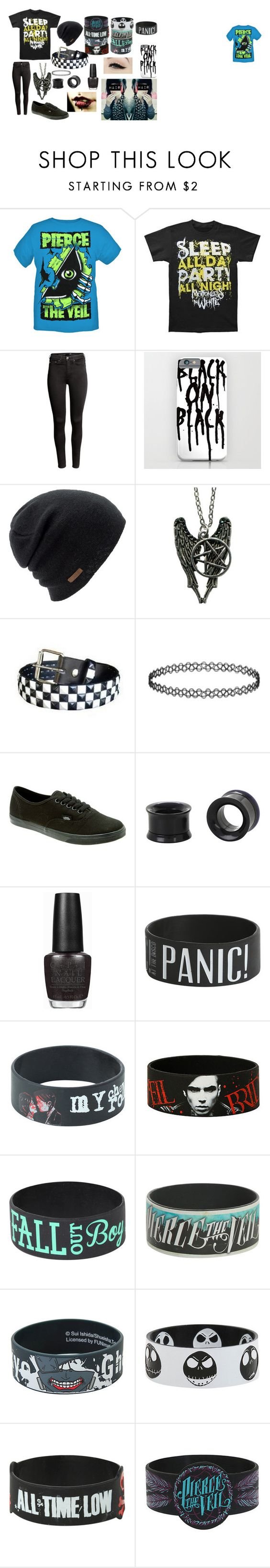 """""""Motionless in White"""" by abipatterson on Polyvore featuring H&M, Coal, Vans, OPI and Anatomy Of"""