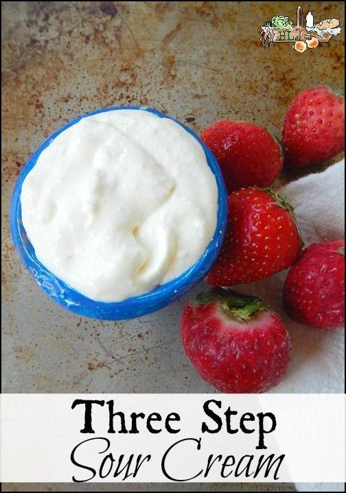 Three Step Delish Homemade Sour Cream Make Sour Cream Real Food Recipes