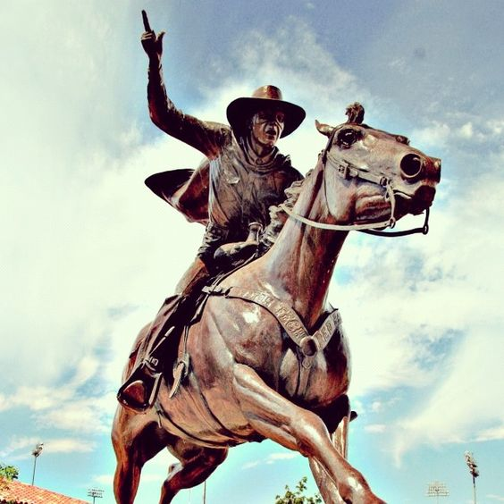 Lubbock is home to Texas Tech and the famous Masked Rider! Guns Up!